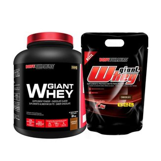 Kit - Whey Protein Giant Whey  2kg + Whey Protein Giant Whey - Refil 2kg - BB