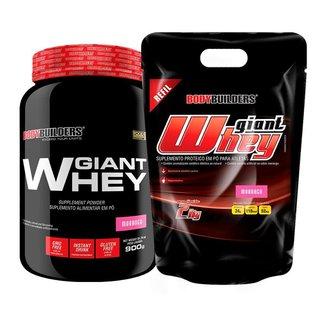 Kit - Whey Protein Giant Whey 900g + Whey Protein Giant Whey Refil 2kg - BB