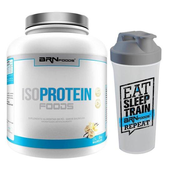 Kit Whey Protein Iso Protein 2kg Baunilha + Coqueteleira - BRN FOODS -