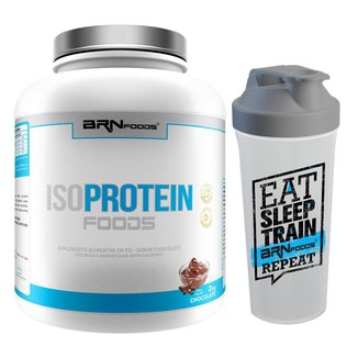 Kit Whey Protein Iso Protein 2kg Baunilha + Coqueteleira - BRN FOODS