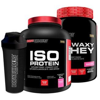 KIT- Whey Protein Iso Protein 2kg + Waxy Whey 900g + Coqueteleira - Bodybuilders