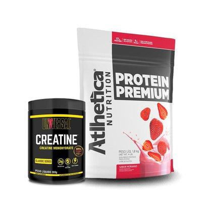 Kit Whey Protein Premium 1,8kg  - Atlhetica + Creatina 300g - Universal