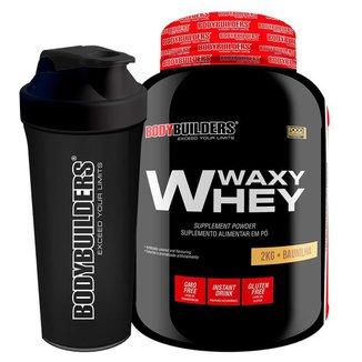 KIT - Whey Protein Waxy Whey 2kg  + Coqueteleira - Bodybuilders