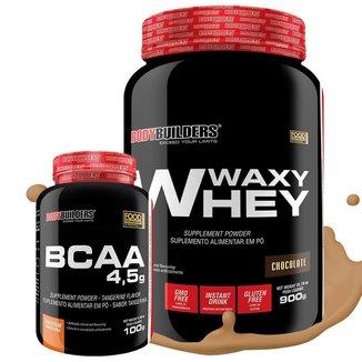 Kit Whey Protein Waxy Whey 900g + BCAA 100g - Bodybuilders