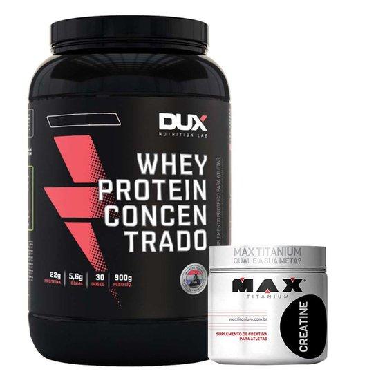 Kit Whey WPC 900g Dux + Creatina 150g Max Titanium -