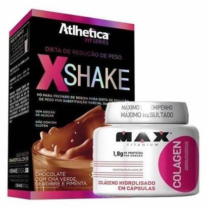 Kit Xshake 420g + Colagen 100 Cáps – Max Titanium