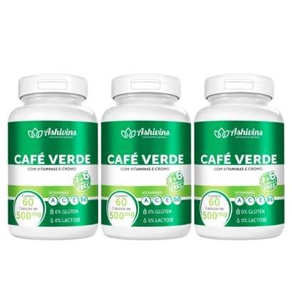 Kits Café Verde Ashivins 180 Cáps 500 mg - Unissex