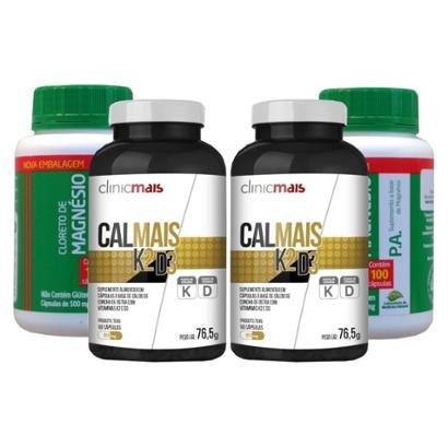 Kits Vitamina K2 D3 Cálcio + Cloreto De Magnésio - Unissex