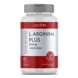 L-Arginina Plus 500mg + Niacina 60 Cápsulas Lauton