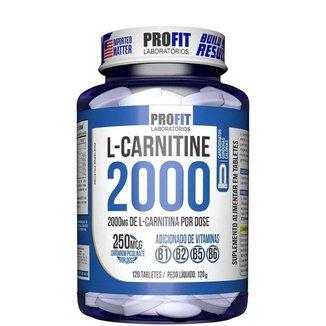 L Carnitina 2000 + 250mcg Cromo 120 Tabletes ProFit