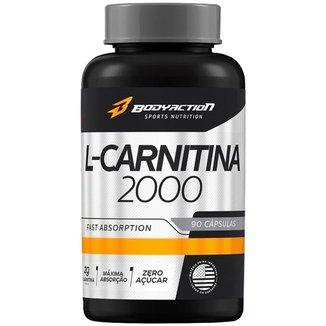 L-Carnitina 2000mg com 90 cápsulas Bodyaction