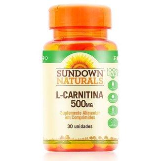 L-Carnitina 500mg - Sundown Vitaminas