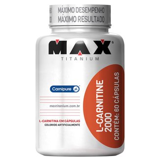 L-Carnitine 2000 60 Cáps - Max Titanium
