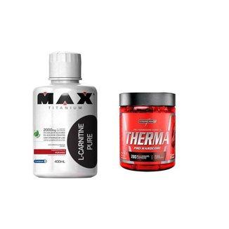 L-Carnitine 400ml + Therma pro 60 capsulas integralmedica