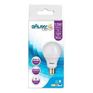 Lâmpada LED Galaxy Bulbo 15W 6500K E-27 Bivolt Bulbo A65