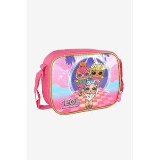 Lancheira Infantil Luxcel Alça Transversal LOL Pink