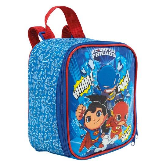 Lancheira Infantil Xeryus DC Freinds The Defende - Azul