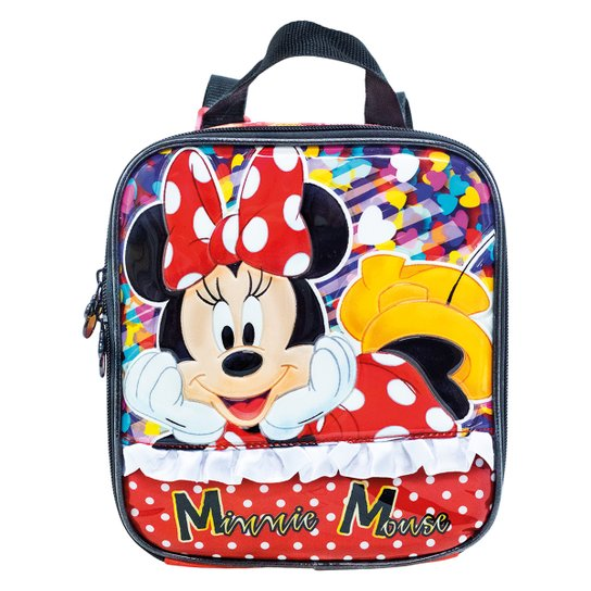 Lancheira Infantil Xeryus Minnie Its All Minnie 89 - Vermelho