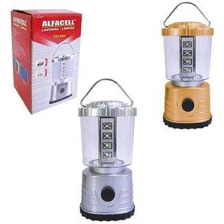 Lanterna Alfacell Lampião 12 Led 300 Lumens Para Camping À Pilha