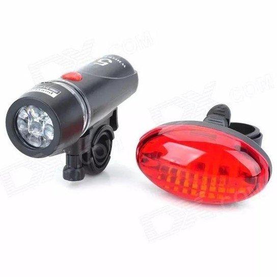 Lanterna Bike Blessed Dianteiro e Traseiro - Preto