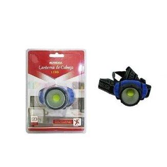 Lanterna De Cabeça 1 Cob Ciclismo Escalada Trilha E Pesca Alfacell 51141