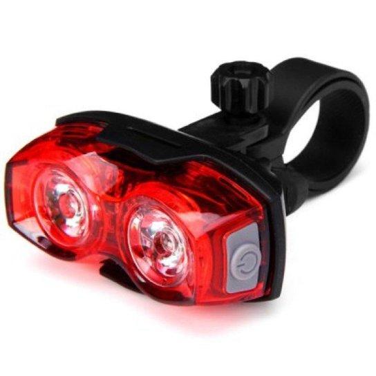 Lanterna Pisca Traseiro Sinalizador Segurança Bike Ciclismo - Vermelho+Preto