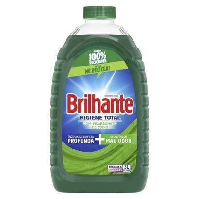 Lava-Roupas Líquido Brilhante Higiene Total Frasco 3L - Unissex