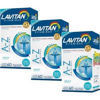 Lavitan A Z Original Suplemento 3 un com 60 cps Cor::Único
