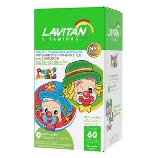 Lavitan Kids Patati Patata com 60 Comprimidos Mastigáveis Sabor Lima-Limão