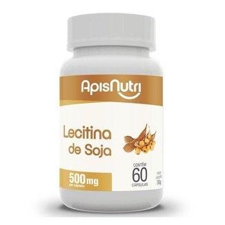 Lecitina de Soja 500mg 60 Cápsulas Apisnutri