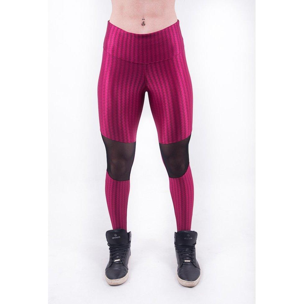 Legging Vermelho Com Fashion Malhei Legging 3D Já 3D Tule 8O5a1