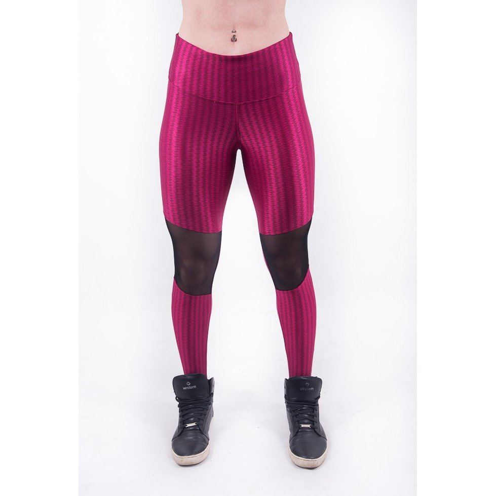 3D Legging Legging Vermelho Tule Malhei Fashion Já 3D Com 47Ewqpp