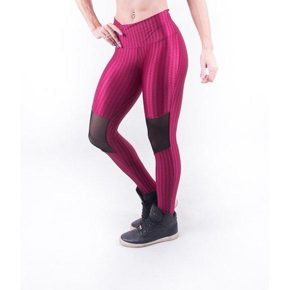 Tule Vermelho Legging Já Legging Malhei Já Com Tule Com 3D Fashion Fashion 3D qFZaRn1pW