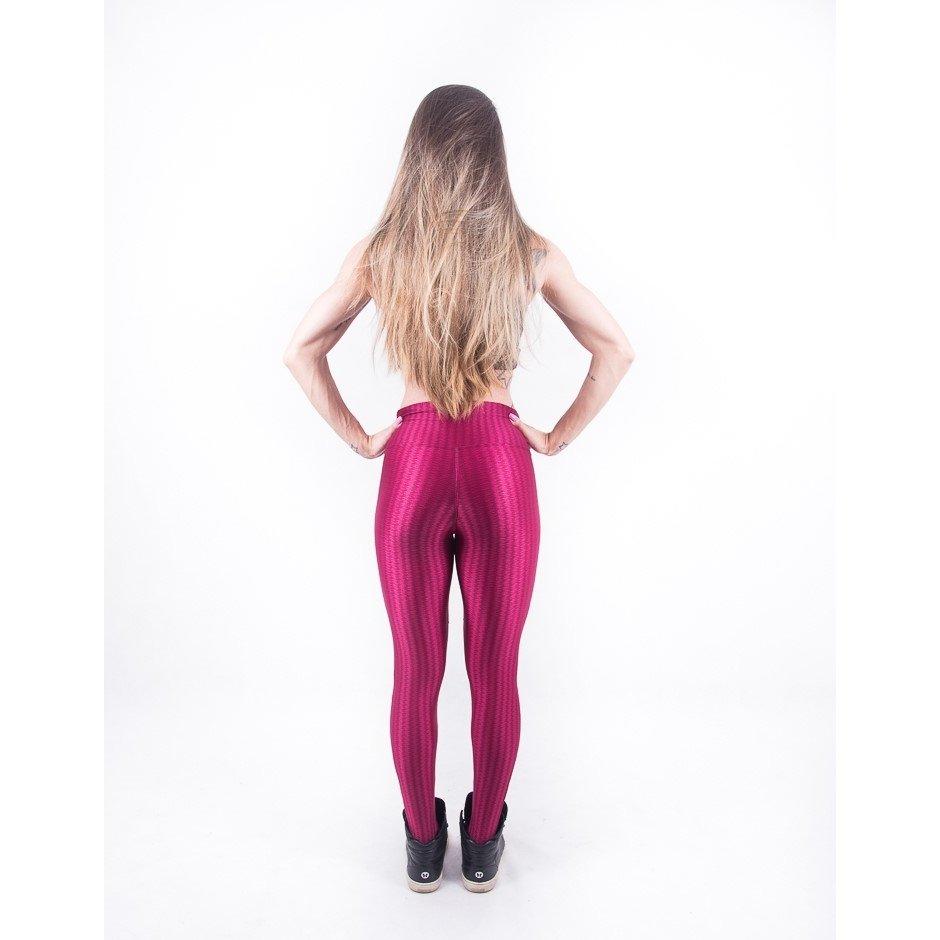 Malhei Legging Fashion Vermelho Com Já 3D Legging 3D Tule qqz0fgw
