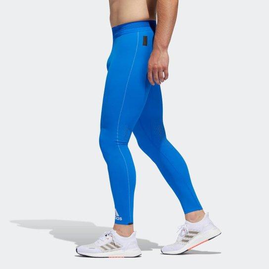Legging Adidas Longa Tech Heat.Rdy Zigzag Masculina - Azul