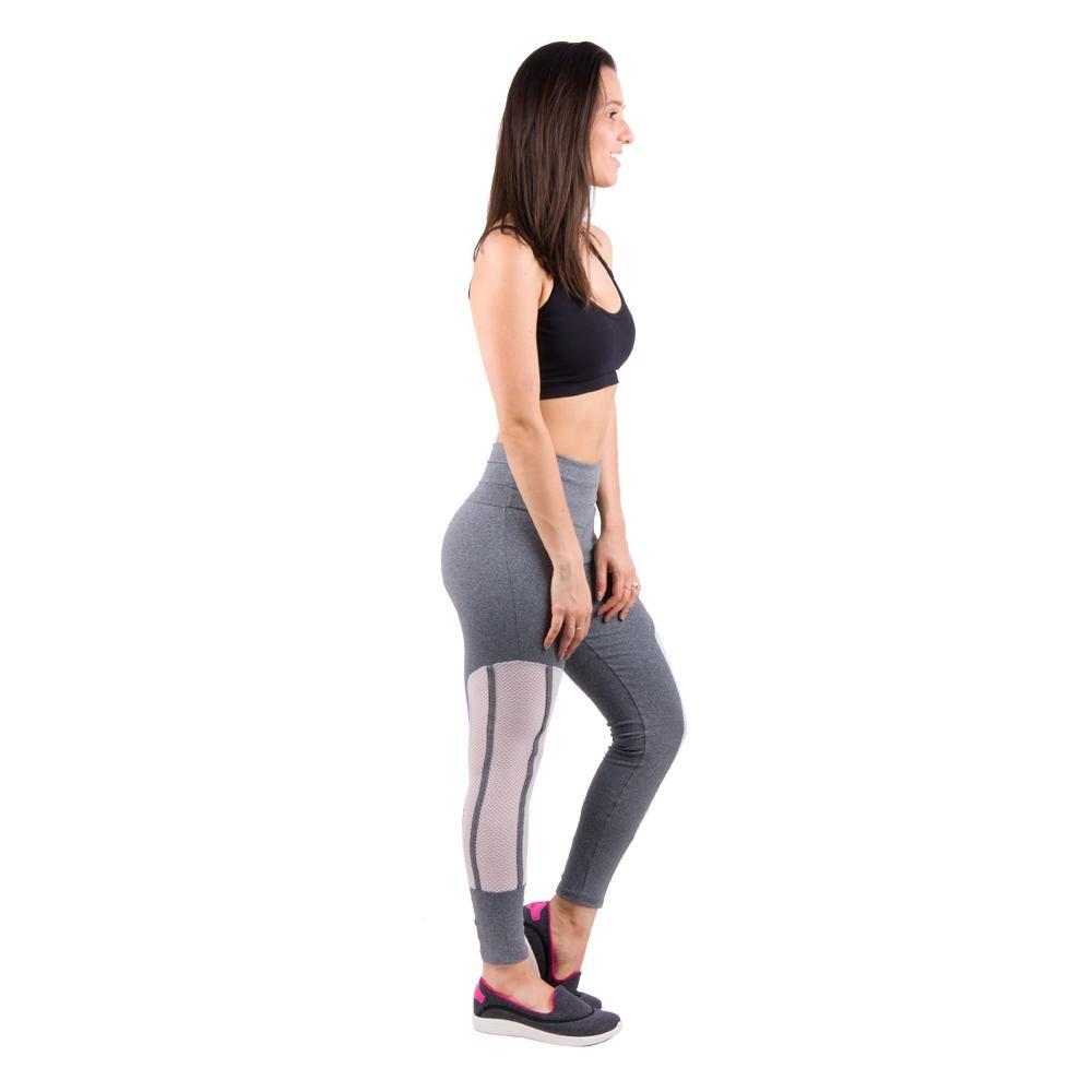 Viés Hanna Triplo Cinza E Salto Legging Legging Banna Tela Banna qBA7x8WpS