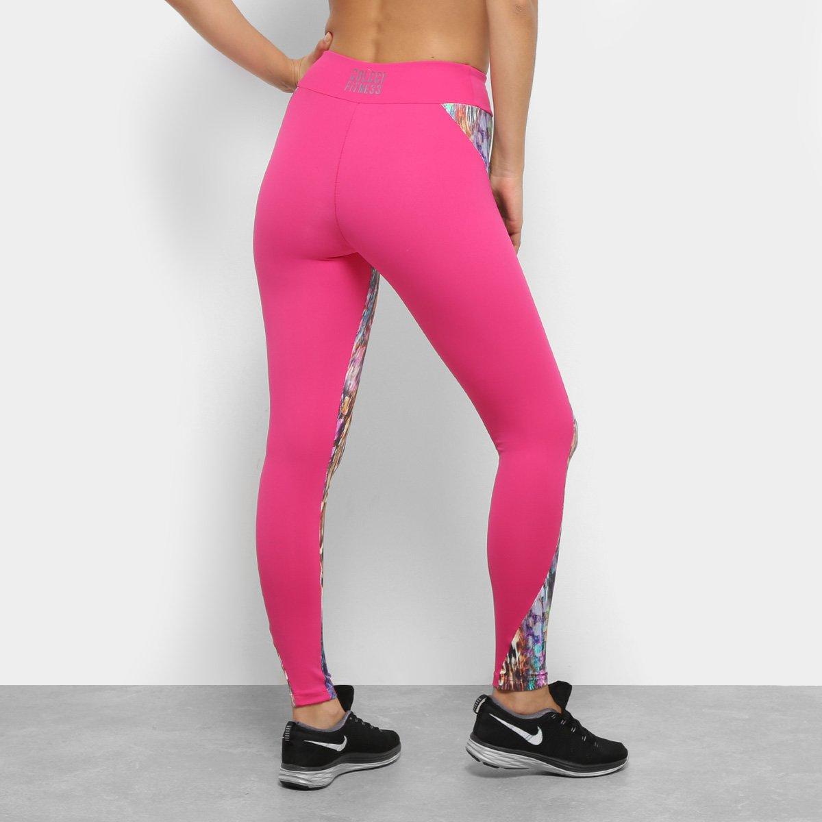 Estampada Legging Legging Colcci Pink Fitness Colcci e Roxo dIB5wqp