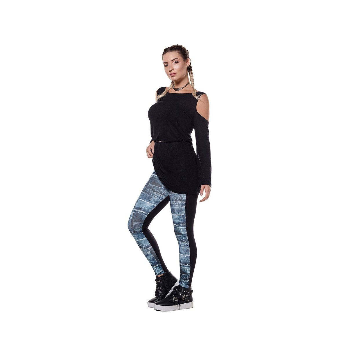Feminina Legging Legging Compression Jeans Abusy Compression Abusy Feminina Azul Jeans Ivq8gBw