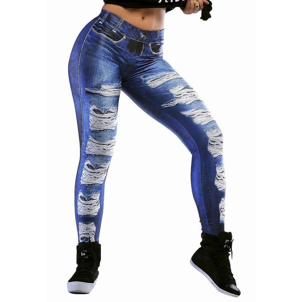 5ec2551da Legging Fake Jeans Lipsoul Girls - Compre Agora