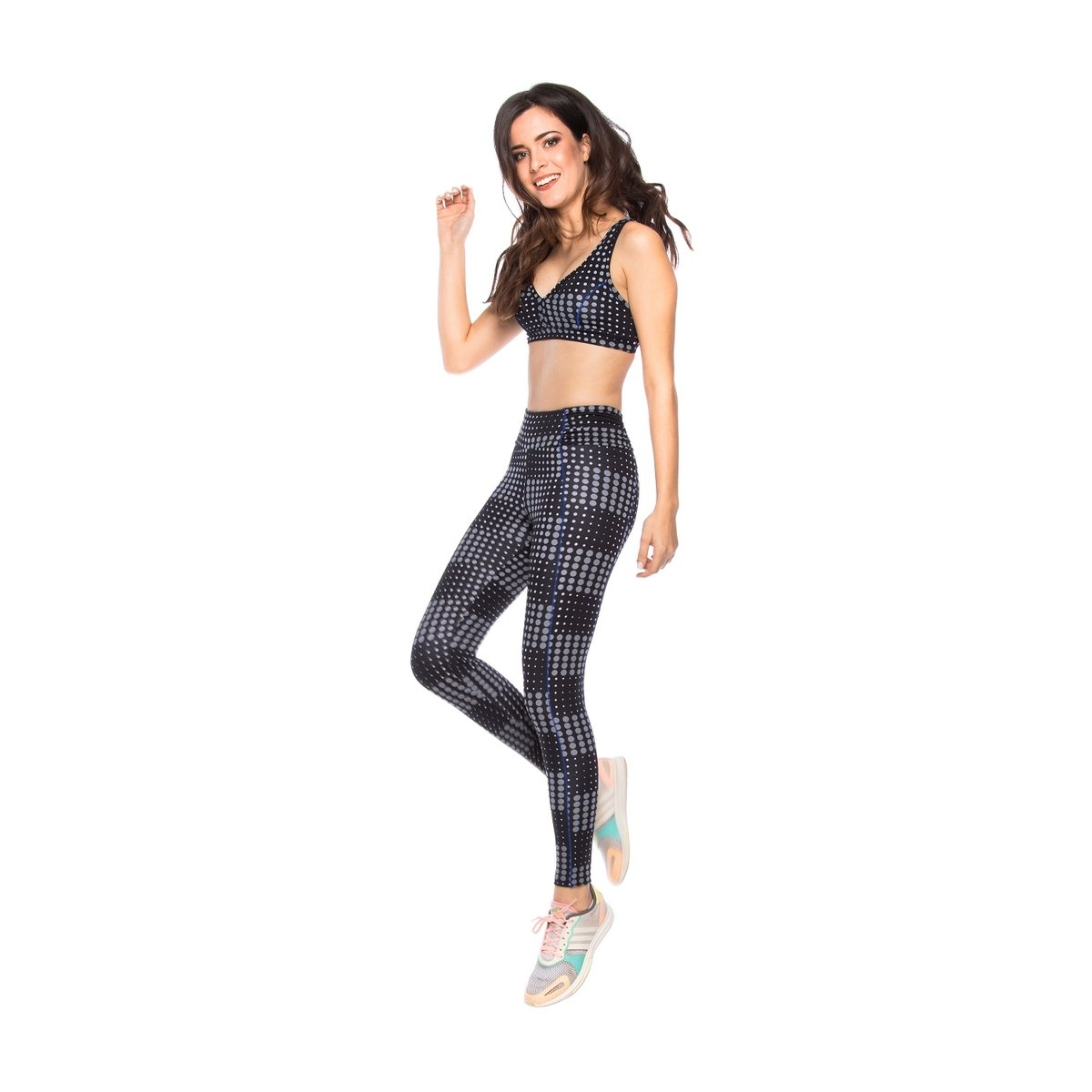 Cós Cós Franzido Franzido Fitness Legging Fit Fitness Preto Legging n1Xdzzx