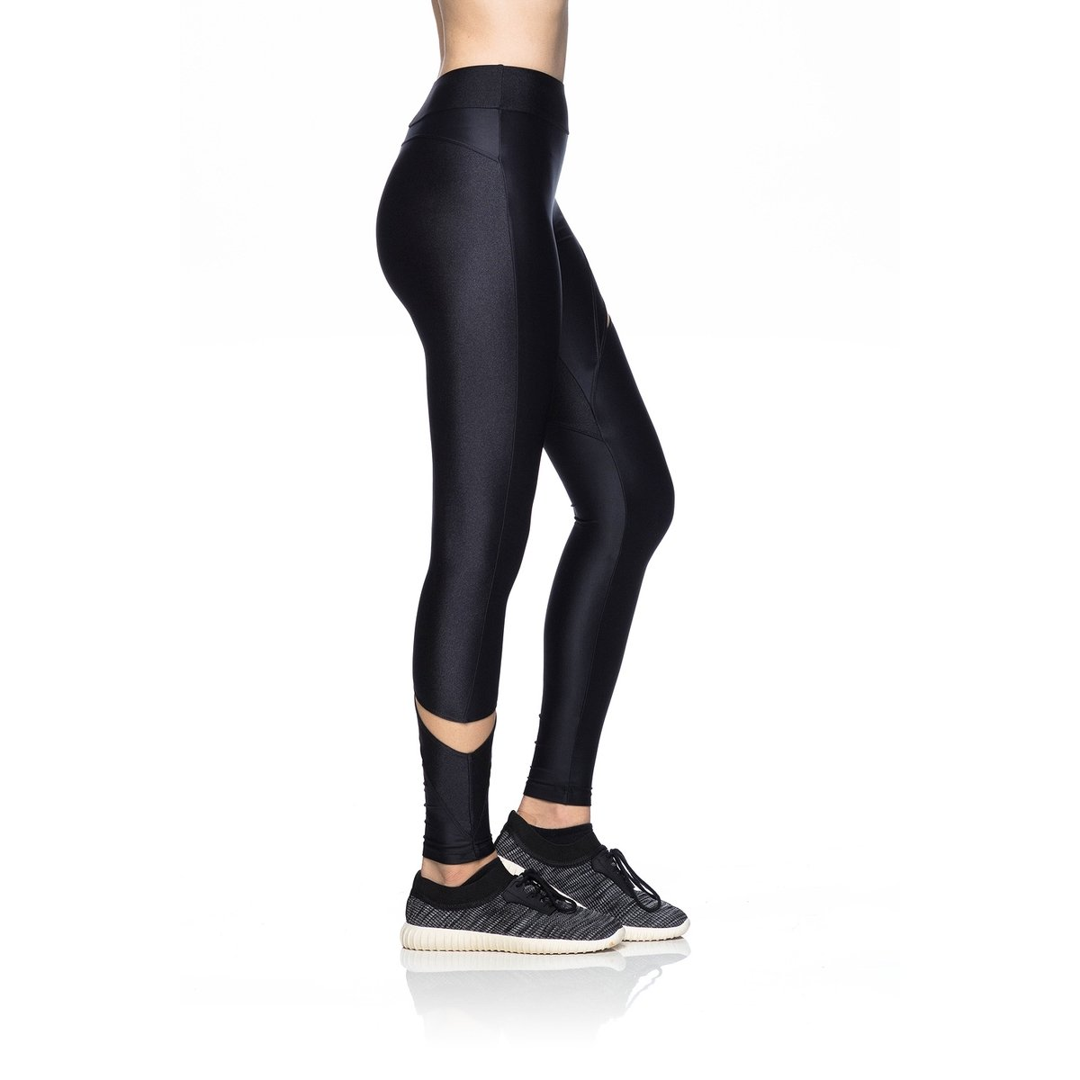 Tule Elástica Fitness Mulher Legging Transp Fitness Preto Legging npgqzEIX