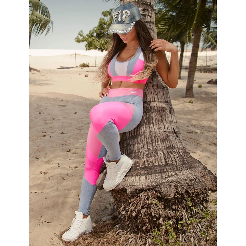 Legging Curves Cinza Superhot Legging Superhot rBPrqU