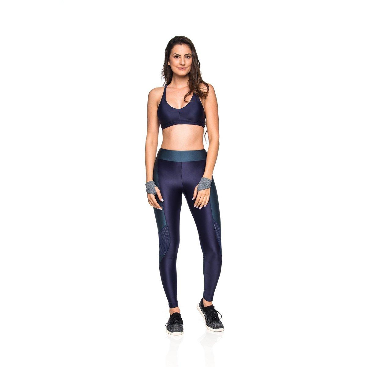 Marinho Leggings Leggings Fitness Mulher Elástica Elástica Fitness Intensity Intensity Mulher xFpBx
