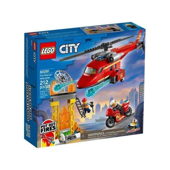 LEGO City Helicóptero de Resgate dos Bombeiros - Colorido