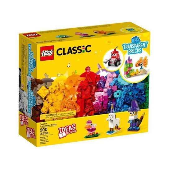 LEGO Classic Blocos Transparentes Criativos - Colorido