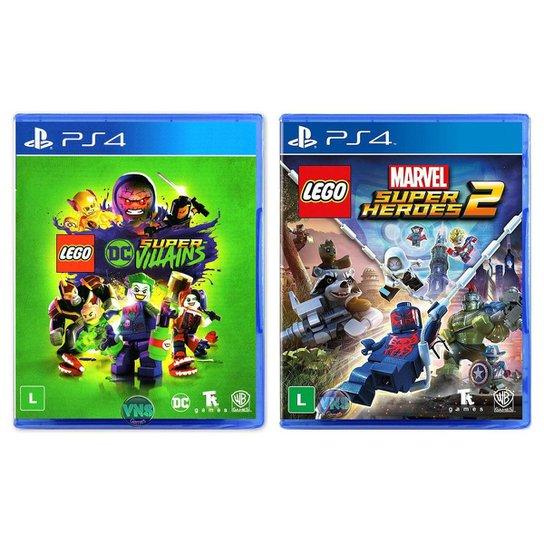 LEGO DC Super Villains + LEGO Marvel Super Heroes 2 - PS4 - Incolor