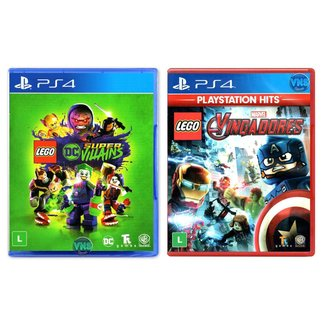 LEGO DC Super Villains + LEGO Marvel Vingadores - PS4