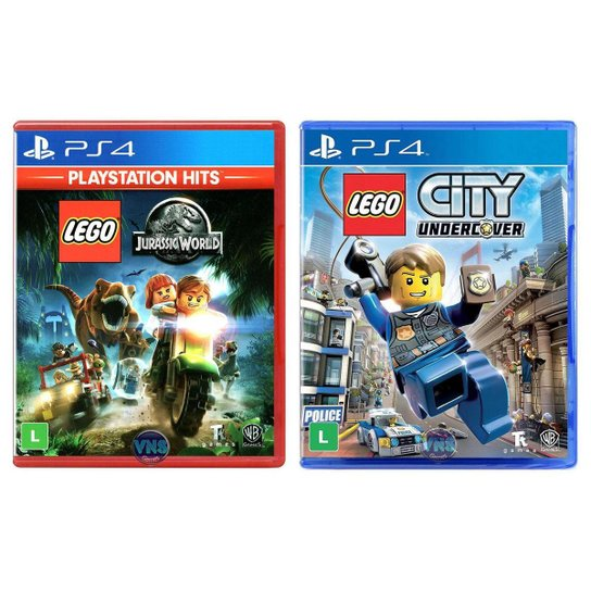 LEGO Jurassic World + LEGO City Undercover - PS4 - Incolor