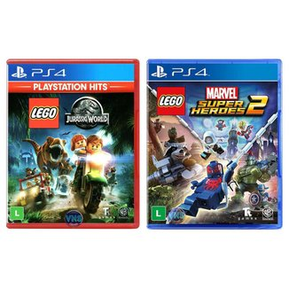 LEGO Jurassic World + LEGO Marvel Super Heroes 2 - PS4