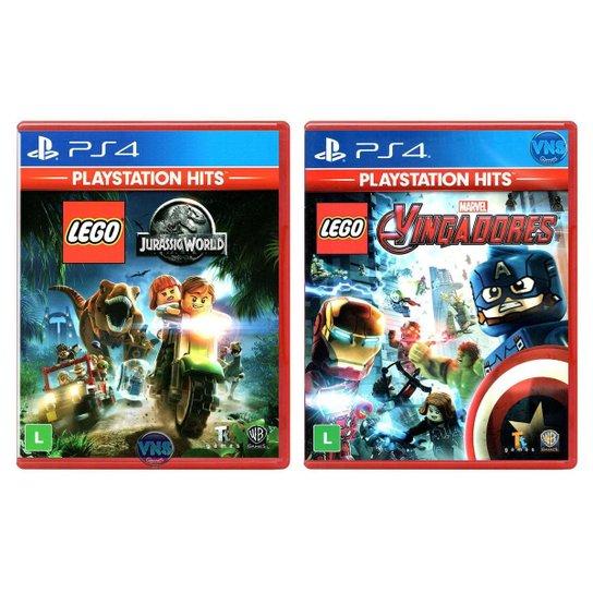 LEGO Jurassic World + LEGO Marvel Vingadores - PS4 - Incolor
